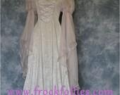 Leonora, a Renaissance, Medieval, Elvish, Pre- Raphaelite, style wedding or Handfasting dress