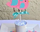 Bird theme, nesting baby shower, birthday centerpiece