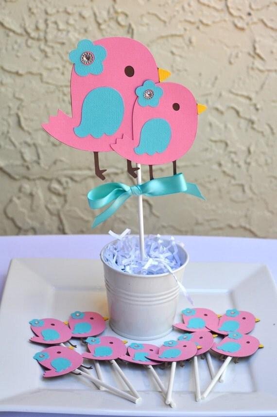 bird theme nesting baby shower birthday centerpiece