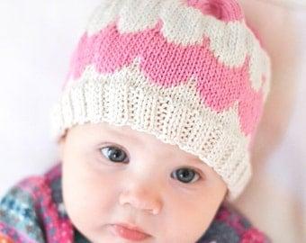 Knit Scallop Baby Hat Pattern