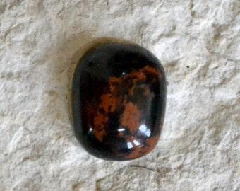 Mahogany Obsidian Cabochon, Mahogany Obsidian Cab, Mahogany Obsidian