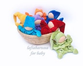 custom waldorf doll for baby, gnomes - natural pastel Teething waldorf doll for baby boy,baby rattle, baby boom
