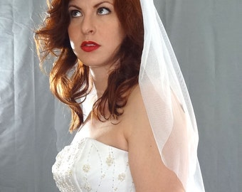 English Net Bridal Veil, Wedding Veil, Soft Bridal Veil