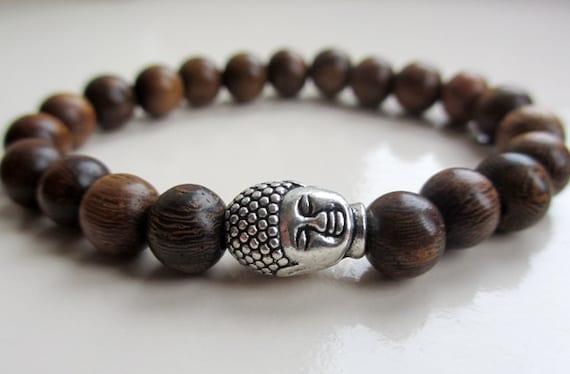 wood bead bracelet buddha bracelet wooden beaded bracelet. Black Bedroom Furniture Sets. Home Design Ideas
