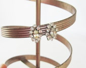 Rhinestone Earrings, Silver Earrings, Silver Rhinestone Earrings, Silver Screw Back Earrings, Rhinestone Jewelry, Stocking Stuffer Jewelry