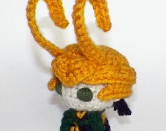 Amigurumi Thor 2 The Dark World Loki With Helmet