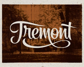 "Tremont - Cleveland, Ohio Print - 12"" x 9"" French Speckletone Madero Beach, Vintage Inspired"