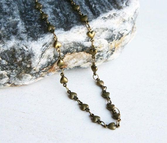 Heart Chain Bracelet / Heart Chain Anklet