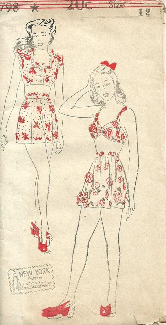 Vintage Swim Suit Pattern 82