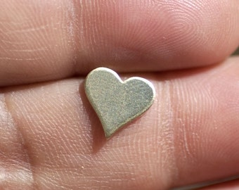 Brass Tiny Perfect Heart for Blanks Polished Stamping Texturing Soldering, Jewelry Supplies