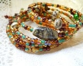 Earthy Browns Wrap Bracelet/Anklet