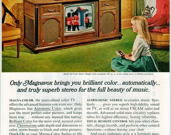 Magnavox Cabinet Television Ad, 1966