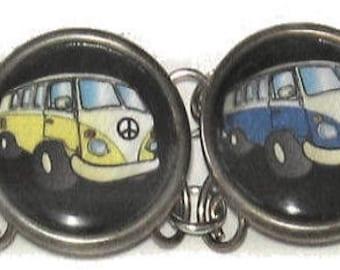 Multi Image Bracelet - Peace Bus