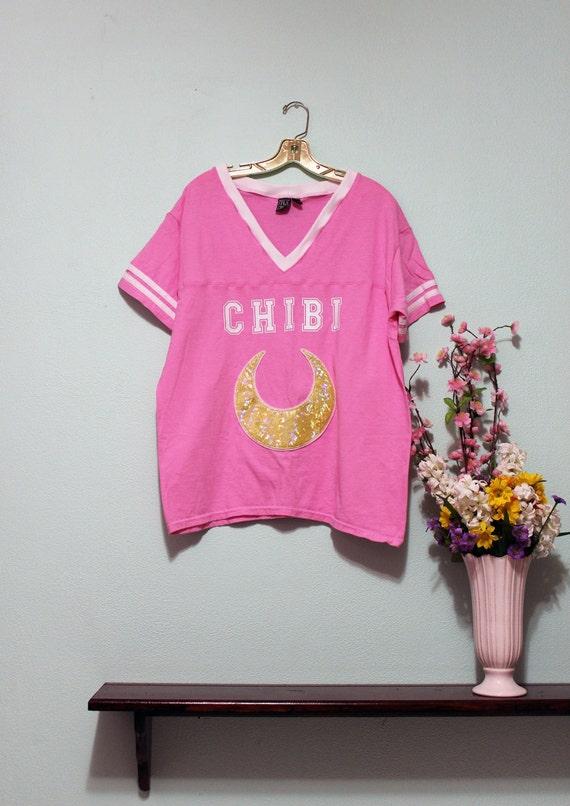 Sailor Moon Inspired Chibi Usa Small Lady Fashion Jersey Football Top - Sizes XS-4X