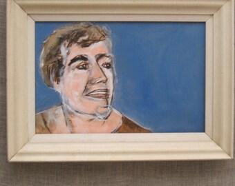 Original Fine Art Female Portrait Painting, Wil Shepherd Studio, Framed, Portraiture of Women, Hand Painted, Images of Ladies, Rectangular
