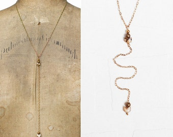 Blythe // eco friendly lariat necklace // handmade in USA