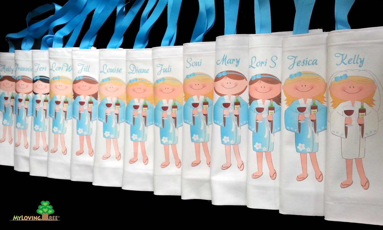 Bridesmaid gifts spa girl party gift bags bridal shower for Bridal shower gifts for the bride who has everything