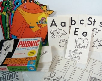Phonics Frogs Flashcards Fun 2 Vintage Learning Card Sets 1968 1977