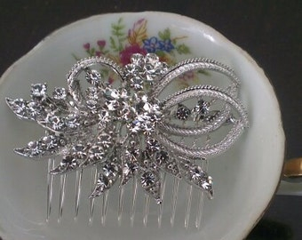 Bridal comb,bridal Haircomb,wedding comb,bridal hair accessories, crystal hairpiece,crystal comb set with Swarovski crystals