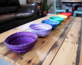 Montessori Sorting Bowls - Chakra Art Bowl Set - Rainbow Basket Set - Yoga Studio Decor - Meditation Room Decoration