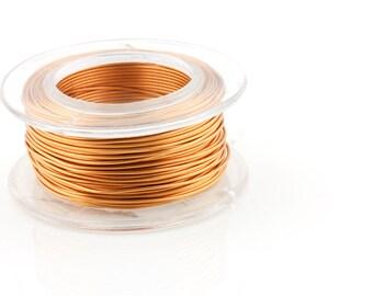 18 Gauge (AWG) Bronze Enameled Copper Wire - 7 yard spool.