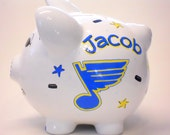 Piggy Bank St. Louis Blues Ice Hockey Personalized