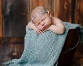 Newborn rhinestone tieback, newborn girl, newborn headband, newborn photo prop, newborn halo