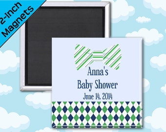 Little Man Baby Shower Favor Magnets - 2 Inch Squares - Set of 10 Magnets