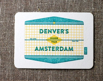 Denver Is Higher Than Amsterdam Postcard