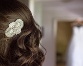 Sparkly Rhinestone Bridal Hair Accessory, Wedding Hairclip, Beaded Pearl Hair Accessory for Brides by Jill's Boutique
