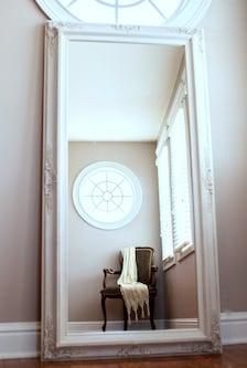 Full length mirror for sale white baroque framed for White framed full length mirror
