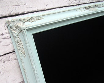 """LARGE CHALKBOARDS For Sale 44""""x32"""" Mint Green Sea Foam Green Wedding French Country Decor Teal Green Chalkboard LaRGE Home Decor Dining Room"""