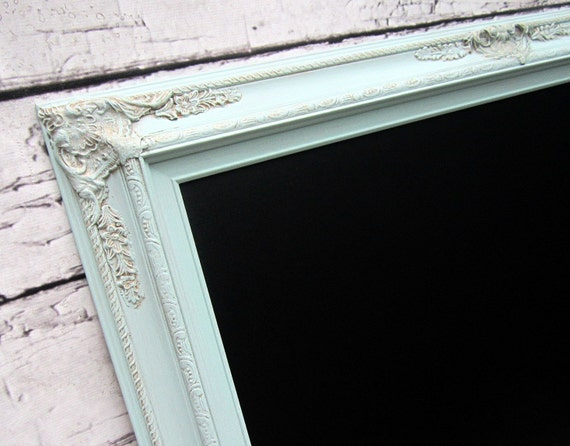 "LARGE CHALKBOARDS For Sale 44""x32"" Mint Green Sea Foam Green Wedding French Country Decor Teal Green Chalkboard LaRGE Home Decor Dining Room"
