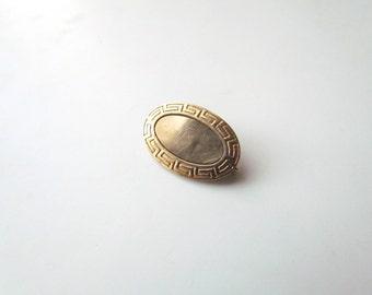 Antique Gold Filled Greek Key Pin c.1890s