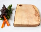 Natural Edge Serving Board, Salvaged Maple Wood 917, Ready to Ship