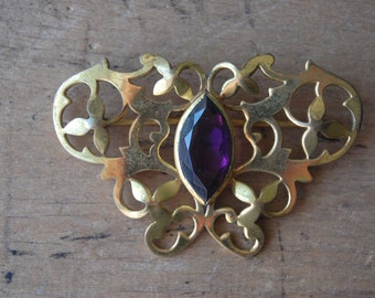 Antique Edwardian gilt sash pin ∙ MAINTIEN BROS