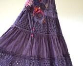 Purple Romantic, upcycled bohemian chic style dress
