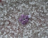 Lavender Purple Sequin Flower with Rhinestone Center Hair Clip - No Slip Grip - Baby - Toddler - Girl - Teen - Adult Hair Clip