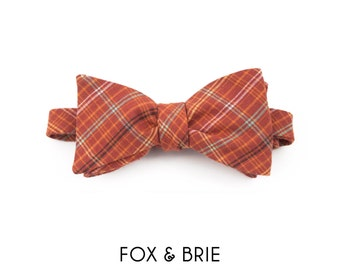 Analog Plaid Bow Tie