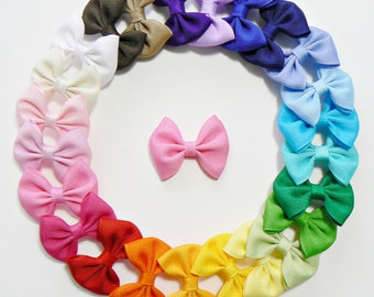 Girls Infant Hair Bow Set Small Newborn Tiny Little Baby Bows Kids Hair Clip Hairbows (Set of 25) Choose Colors