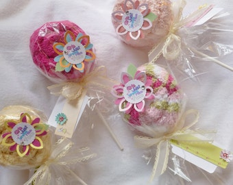 Washcloth Lollipop..Party Favors..Birthday..Spa Party..Adult Washcloth..Select Your Custom Theme..Make Someone Smile..Happy Gifts :)