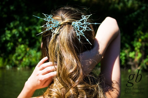 DONATION PIECE Sunburst Hair Pick Set Steampunk Accessory-Choose: Black, Gold, Mixed Colors