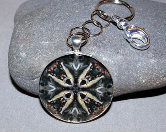 Walleye Fish Keychain Boho Chic Mandala New Age Sacred Geometry Hippie Kaleidoscope Fisherman Outdoorsman Unique Gift For Him Willy Walleye