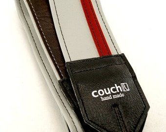 White With Red Racing Stripe Camera Strap, Step Your Game Up