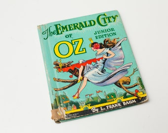 Antique 1939 HC, The Emerald City of Oz, L. Frank Baum, Junior Edition 302