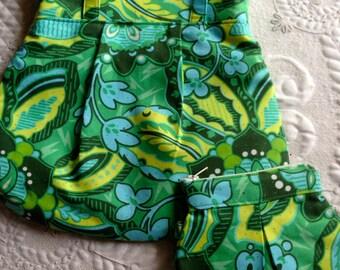 Everyday Purse - Handbag - Green print - Designer Fabrics - READY TO SHIP