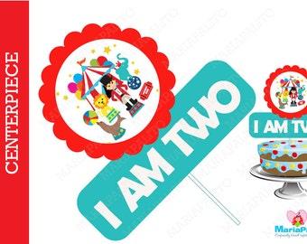CIrcus Centerpiece, Circus Centerpiece, Personalized Birthday Centerpiece, Personalized Party Sign A1055