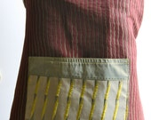 Womens Reversible Apron - Designer Deep Ruby Fabric - Mothers Day Gift - Ready to Ship