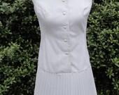 1960's Jerell of Texas Scooter Dress in White // 1960's Mini Mod Dress Pleated Skirt // 1960's Tennis Dress Pleated Skirt