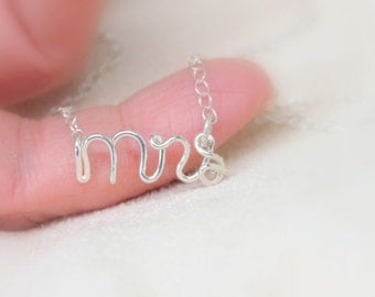 Mrs Necklace, New Bride, Newlywed, Sterling Silver, Getting Married, Bride Gift